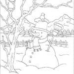 бесплатно распечатать в лесу новогодние раскраски новый год