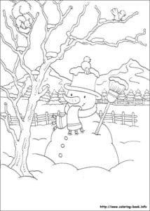 бесплатно распечатать в лесу новогодние раскраски новый год А4