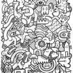 бесплатно рисунки карандашом дудлинг