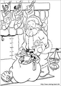 бесплатно рисунки раскраски новый год А4