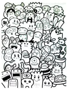 бесплатно рисунки в стиле дудлинг
