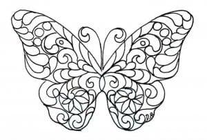 бесплатно рисунок раскраска бабочка
