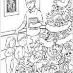 бесплатно с новым годом открытки раскраски А4