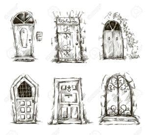бесплатно скачать раскраска дверь для детей