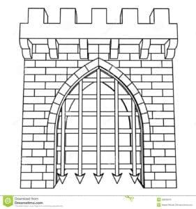 бесплатно скачать сказочная дверь раскраска