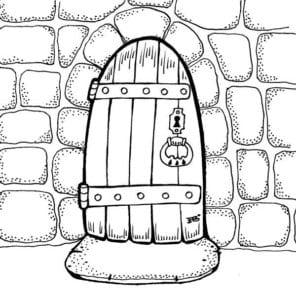 бесплатно сказочная дверь раскраска