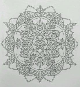 бесплатно снежинок на новый год картинки раскраски А4