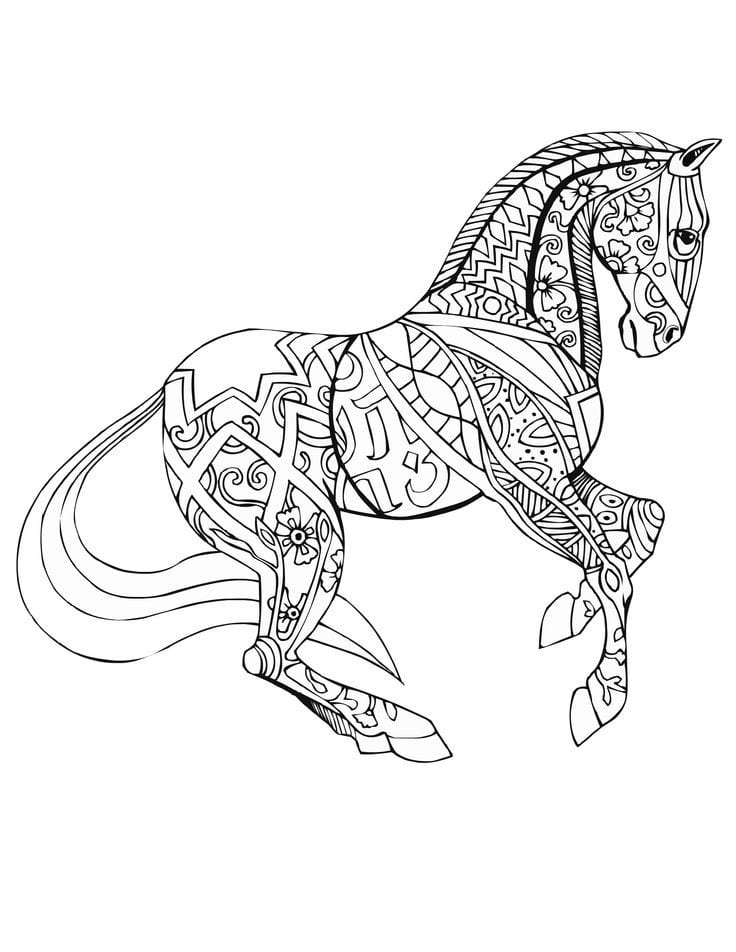 диких лошадей раскраски