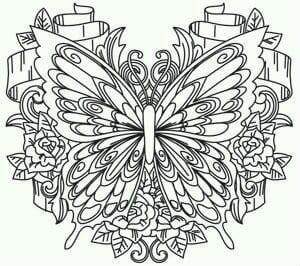 бесплатно взрослых бабочек раскраски для
