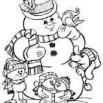 бесплатно зима новый год раскраска