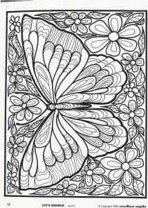большие раскраска бабочка