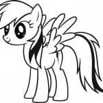 большие раскраски мой маленький пони