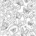 декора бабочки раскраски