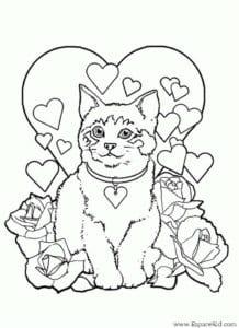 день бесплатно раскраски на валентин