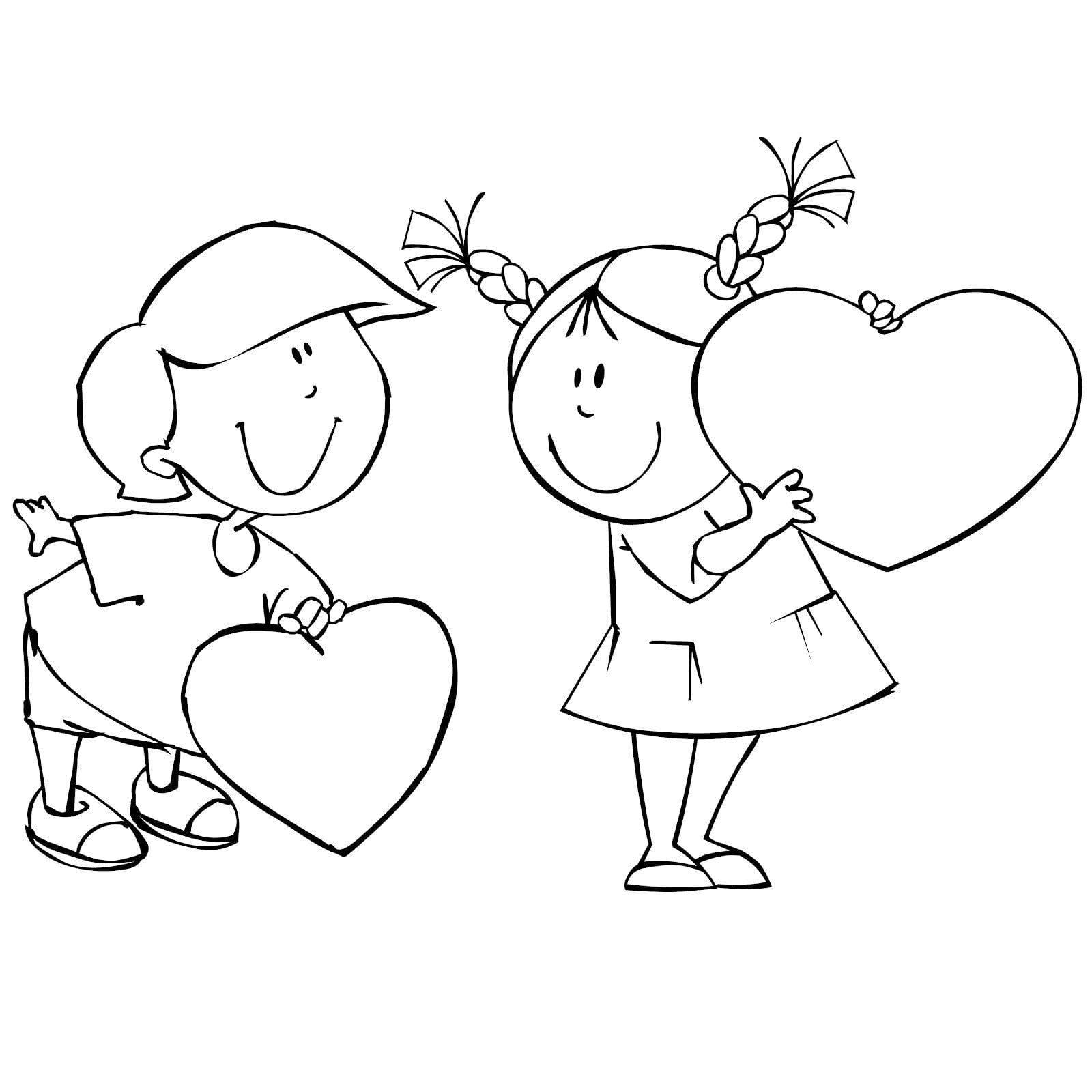 день бесплатно раскраски валентинов
