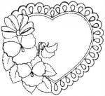 день распечатать бесплатно раскраски валентинов