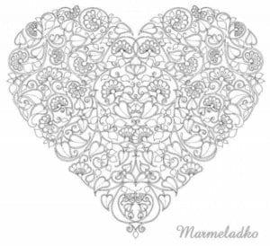 день распечатать раскраски валентинов