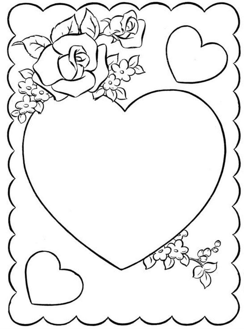 день влюбленных распечатать бесплатно раскраски