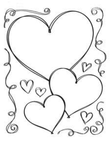 день влюбленных скачать бесплатно раскраски