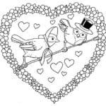 день влюбленных скачать раскраски