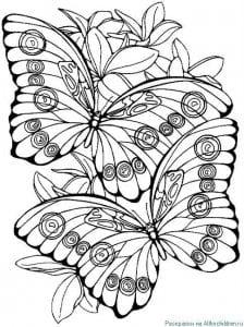 детей бабочка раскраска для