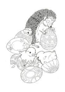 детей распечатать пасха раскраска для красивая