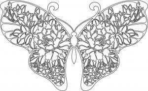детей распечатать раскраска бабочки для