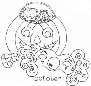 детей распечатать раскраски хэллоуин для