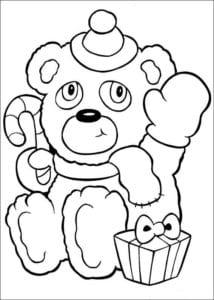 детские раскраски новый год А4