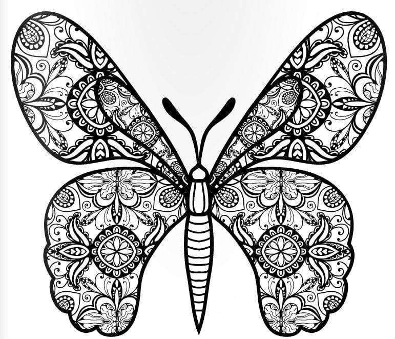 девочек бабочки распечатать раскраска для