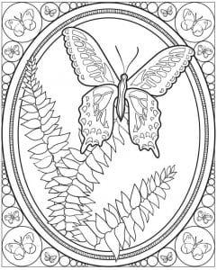 devochek-cvety-i-babochki-raspechatat-raskraski-241x300 Бабочки