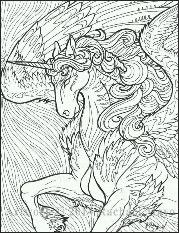девочек лошадки и единороги раскраски для