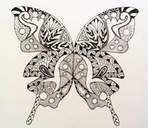 для детей 2 3 лет бабочка раскраска