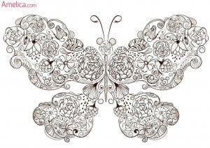 для детей 3 4 лет раскраска бабочка