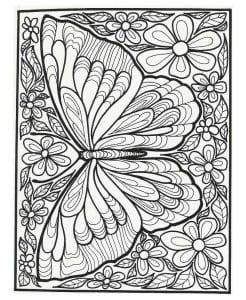 для детей 5 лет раскраска бабочка