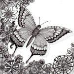 для детей бабочка картинка раскраска