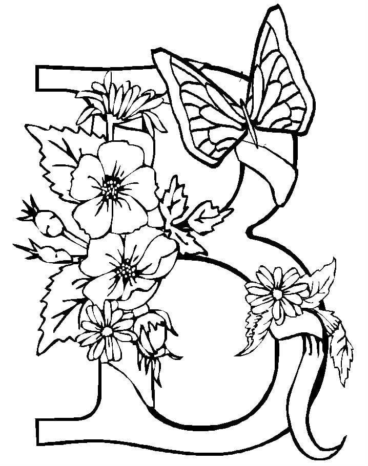 для детей бабочка раскраска