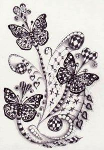 для детей детского сада раскраски бабочек