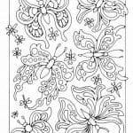 для детей раскраска бабочка рисунок