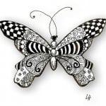 для детей распечатать раскраска бабочки