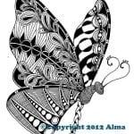 для девочек бесплатно бабочек раскраски