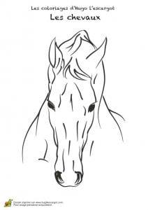 красивые распечатать раскраски лошади