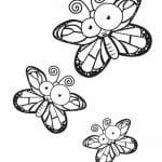 для девочек цветы и бабочки распечатать раскраски