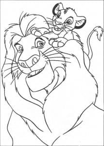 для мальчиков король лев раскраски