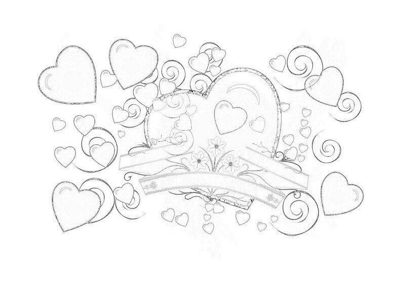 dnju-valentina-besplatno-raskraska дню валентина бесплатно раскраска