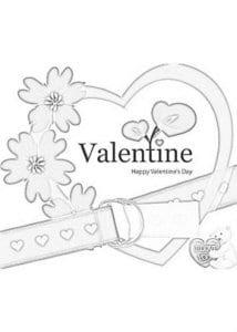 дню валентина распечатать бесплатно раскраска