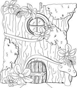 дверь раскраска