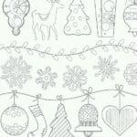 елки на новый год раскраски