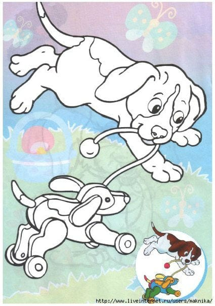 foto-sobaki-raskraska фото собаки раскраска