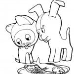 гав раскраска котенок по имени